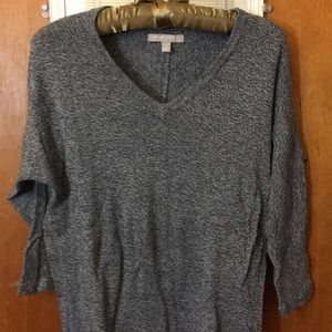 banana republic black and white knitted sweater